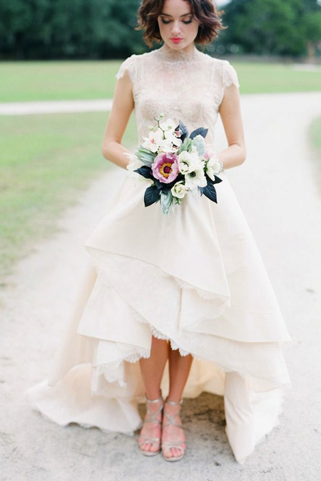 Bridal gown in England from bridalmusings.com