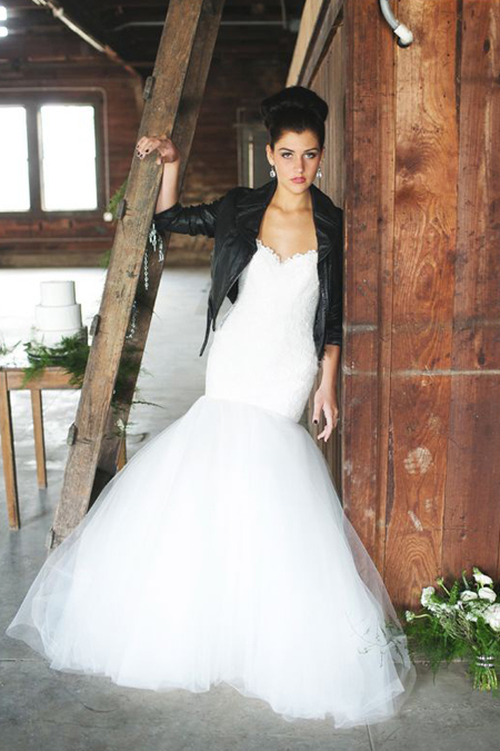 Bridal gown in England from weddingpartyapp.com